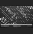 mechanical engineering drawings background for vector image vector image