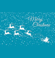 merry christmas reindeer sleigh holiday cut out vector image vector image