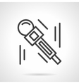 Microphone black line design icon vector image vector image
