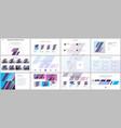 minimal presentations portfolio templates simple vector image vector image