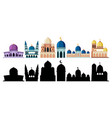 mosque in different style vector image