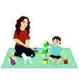 mother play with baby vector image