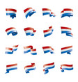 netherlands flag on a white vector image
