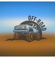 off-road suv car monochrome labels emblems vector image vector image