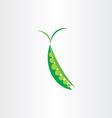 peas icon symbol logo vector image
