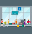 people in airport template vector image vector image