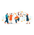 people sing and play different musical instruments vector image