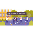 physical violence bullying composition vector image