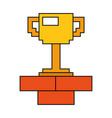 pixel trophy prize game brick wall vector image