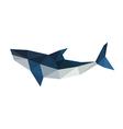 poligonal origami shark vector image vector image