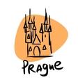 prague capital czech republic vector image
