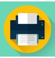 Printer icon Flat design vector image