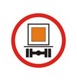 prohibiting traffic sign vector image vector image