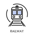 railway delivery and transportation isolated icon vector image