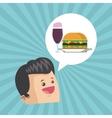 Sandwich design healthy food concept menu icon vector image vector image