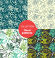 Seamless floral pattern set vector image vector image