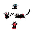 set kittens in different poses vector image