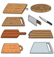 set of cutting board vector image vector image