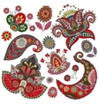 Set of Paisley elements vector image