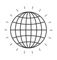 silhouette front view globe earth world chart with vector image