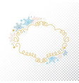 snowflake frame transparent background xmas vector image vector image