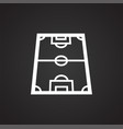 soccer field icon on white background for graphic vector image
