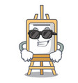 super cool easel character cartoon style vector image vector image