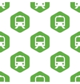 Train face pattern vector image vector image