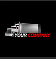 truck and trailer logo with black background vector image