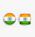 two indian flag label icons design vector image