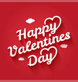 valentines day vintage lettering with shadow on vector image vector image