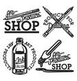 vintage art products shop emblems vector image vector image