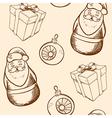 Vintage hand drawn Christmas seamless pattern vector image vector image