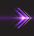 violet arrow light direction speed on black vector image