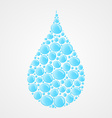 water drops icon vector image