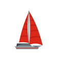 yacht modern icon flat style vector image