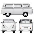 Retro White Van vector image