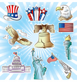 4th of july icons set vector image