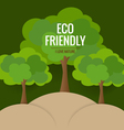ECO FRIENDLY Ecology concept with tree background vector image