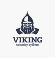 modern professional sign logo viking system vector image