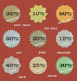 9 Vintage sale labels vector image