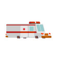 ambulance car cartoon style health care car vector image vector image
