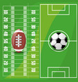 american football sport game to competition vector image