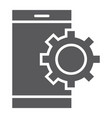 app settings glyph icon technology and smartphone vector image