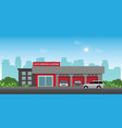 auto car service and repair center or garage with vector image vector image