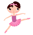 Beautiful cute ballerina in nice dress vector image vector image