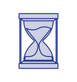 blue silhouette of sand clock icon vector image vector image