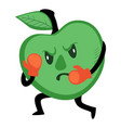 boxing apple fruit leading healthy and active vector image