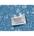 business infographic doodles vector image
