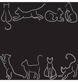 Cat silhouette border vector | Price: 1 Credit (USD $1)